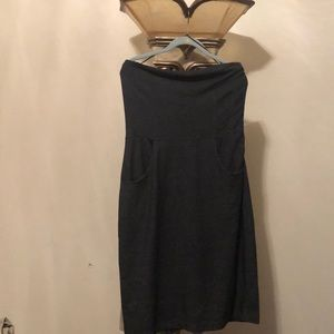 The LIMITED WOVEN spandex strapless dress size L